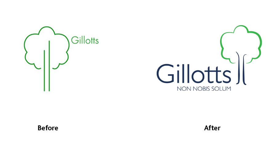 Gillotts school logo evolution by The Agency for Education
