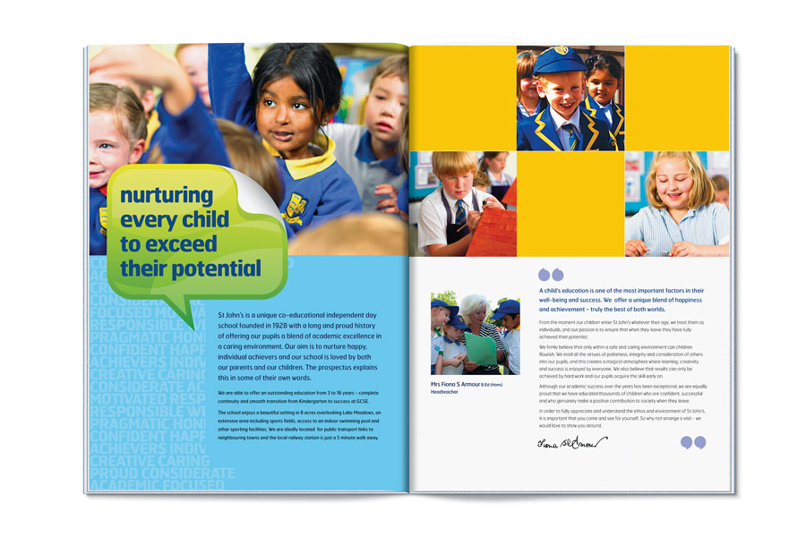 Prospectus design for schools by The Agency for Education