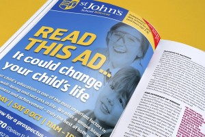 Advertising for St John's School by The Agency for Education