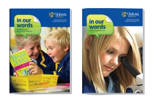 Prospectus design for St John's School by The Agency for Education
