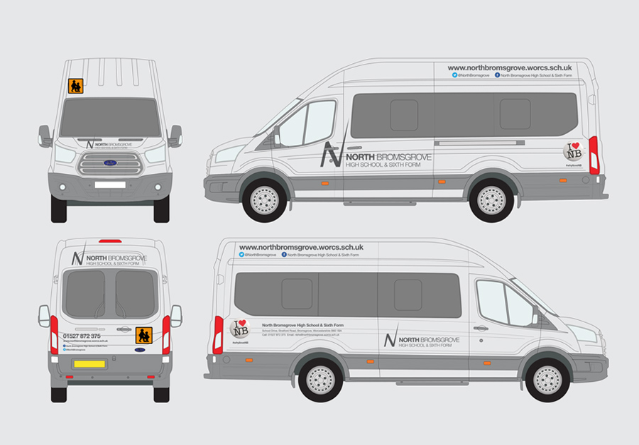 Mini Bus Branding by The Agency for Education