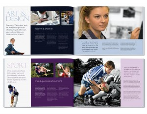 Canford Prospectus Design by The Agency for Education
