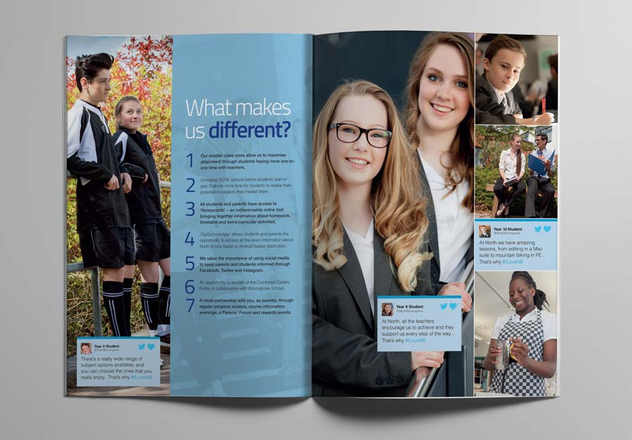 North Bromsgrove High School Prospectus Spread by The Agency for Education